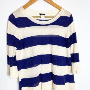 J. Crew EUC silk and linen striped sweater